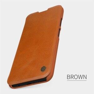 Image 5 - For Huawei P40 Lite Nova 7i Flip Case Nillkin Qin Vintage Leather Flip Cover Card Pocket Case For Huawei Nova 6SE Phone Bags