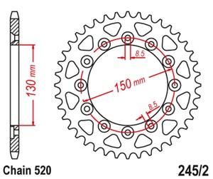 Image 3 - 520 אופנוע אחורי סבבת עבור ימאהה WR250 WR250R WR 250 08 20 WR250X 08 15 WR250F 01 06 10 14 WR450 WR450F WR 450 10 16