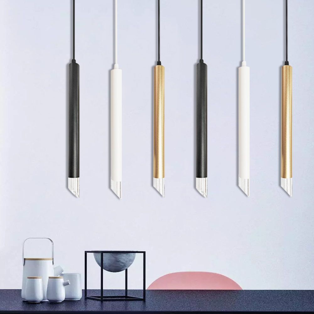 LED Pendant Lights Hanging Lamp Dimmable 3cm Aluminum&Acrylic home Kitchen Island dining living room bar cafe droplight fixture