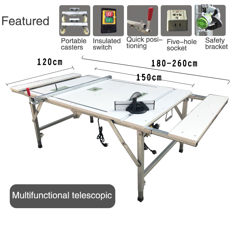 Multifunctional Portable Folding Woodworking Table Saw Lifting Decoration Small Operate Table DIY Decoration