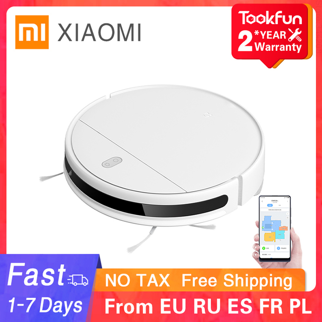 XIAOMI MIJIA Mi Robot Vacuum Mop Essential G1 Sweeping Mopping Cleaner for home cordless Washing cyclone Suction Smart Planned