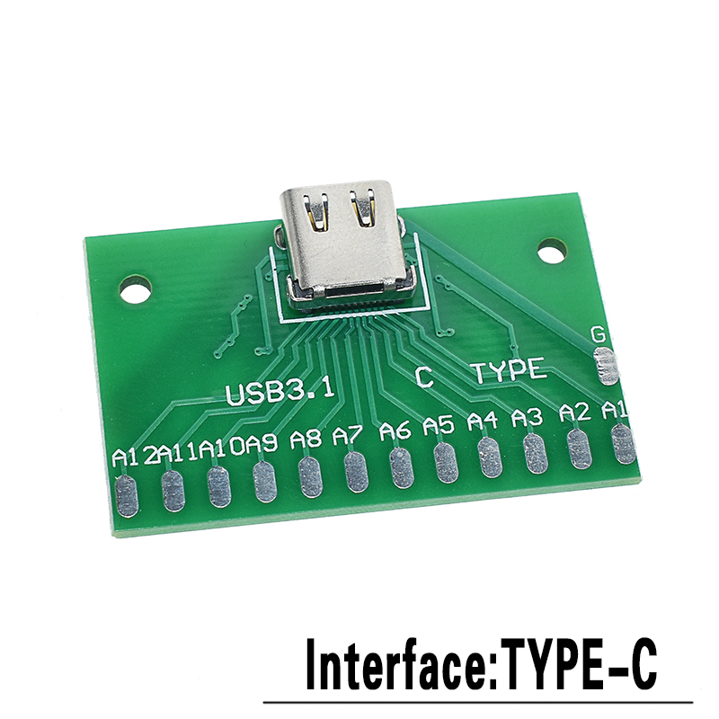 5 шт. USB Мужской разъем/MINI MICRO USB для DIP адаптер Женский Разъем 2,54 Разъем b type-C USB2.0 3,0 женский PCB конвертер - Цвет: TYPE-C to DIP