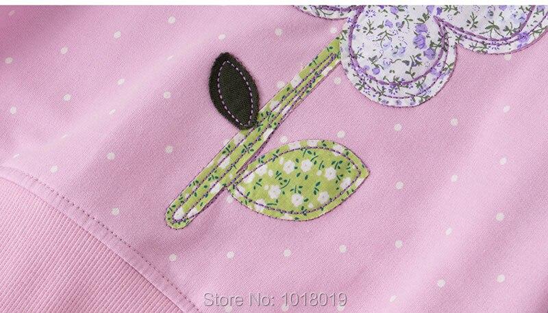 Bebe Girls Tops Fleeces Sweatshirt 100% Terry Cotton Sweater Children t shirt Kids Hoodies Blouses Baby Girl Clothes Dots Flower 6