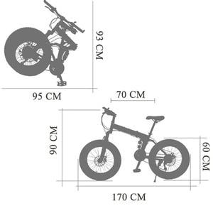 Image 4 - Wolfs fang دراجة دراجة هوائية جبلية 7/21 سرعة الدهون الطريق الثلوج دراجة 20*4.0 للطي دراجة bicicleta الأمامية والخلفية الميكانيكية القرص