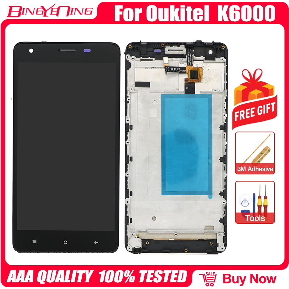 100% оригинал для Oukitel K6000/K6000 ProTouch экран + 1920X1080 ЖК-дисплей + рамка Замена сборки