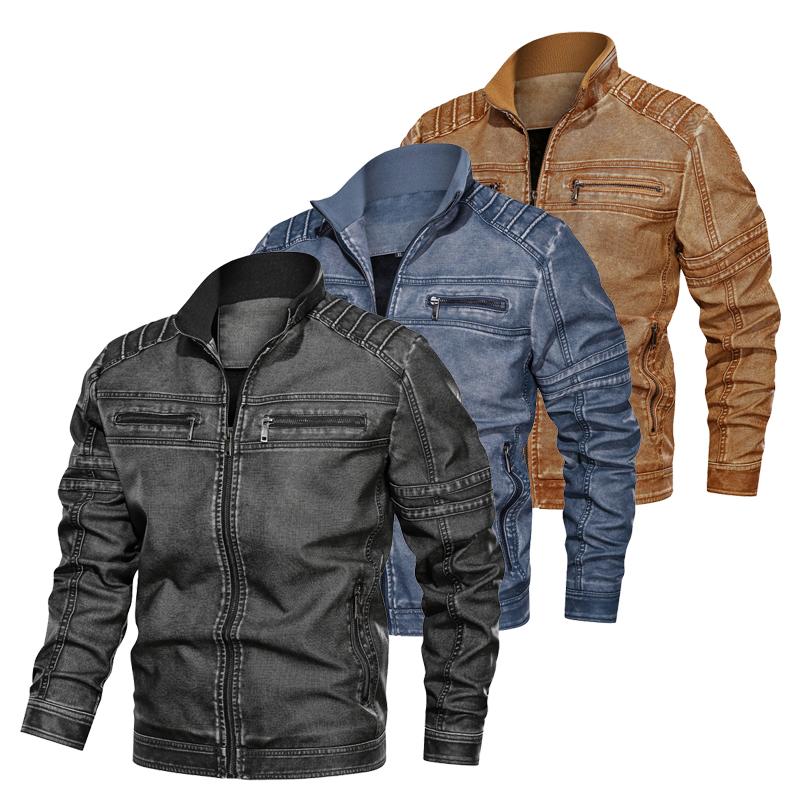 Men Jackets Coat Autumn Winter Warm Leather Jackets PU Sportswear Military Tactical Jackets Men Pilot Coat Army Men\'s Coats