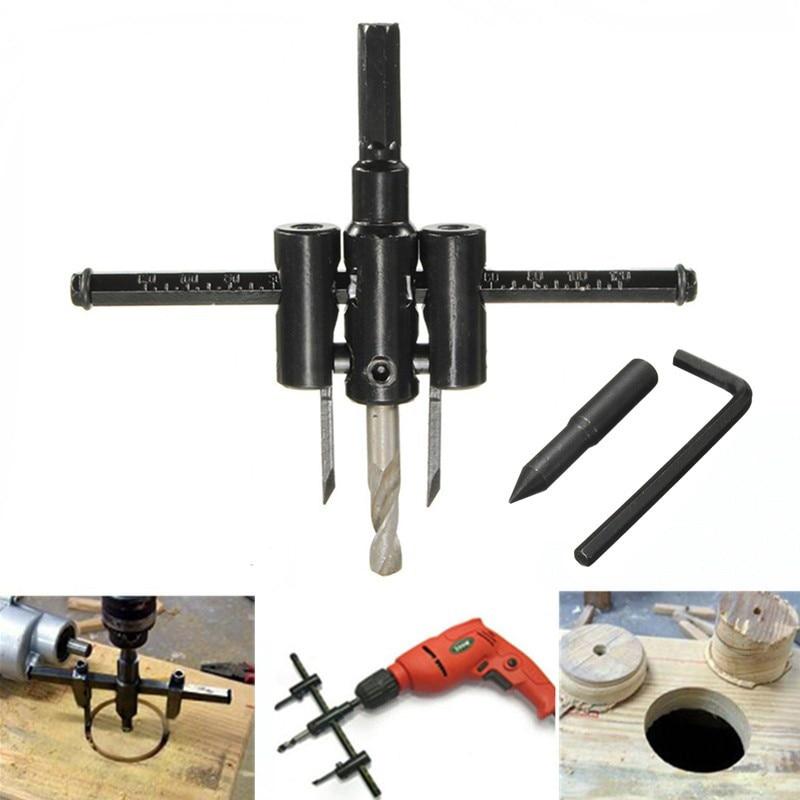19-127mm Cutter Set Carbon Steel Drill Bits Aluminum Sheet Plaster Wood Hole Saw