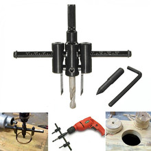 Multi-functions Metal Wood Circle Hole Saw Drill Bit Cutter Kit woodworking cut DIY Hole Tool Center Drill Bits aircraft Hard цена и фото