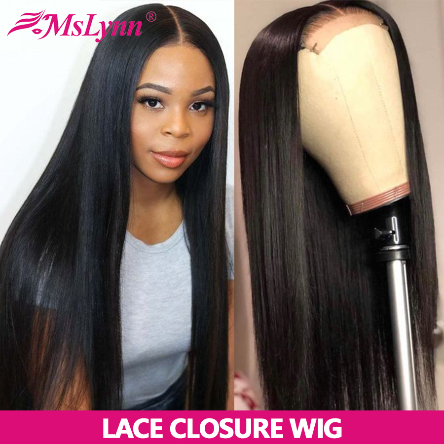 Straight Lace Front Wig Lace Front Human Hair Wigs For Women Closure Wig Pre Plucked With Baby Hair Mslynn Remy Hair 150%