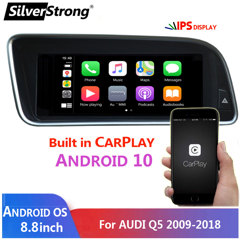 "Carplay 8.8\"" Android 10 Car Head Unit GPS Navigation For Audi Q5 2009-2016 Car Radio Stereo Multimedia Player Steering Wheel"