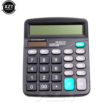 1pcs Office Commercial Calculator Calculate Tool Battery Powered 12 Digit Electronic Calculator Portable hot sale newest 1