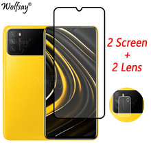 Full Cover Tempered Glass For Xiaomi Poco M3 Screen Protector For Xiaomi Poco M3 Camera Glass For Xiaomi Poco M3 Glass 6.53 inch