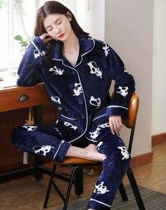 Image 5 - 2020 yetişkin pijama kadın pazen pijama Unisex sevimli Unicorn dikiş karikatür hayvanlı pijama setleri çocuklar kapşonlu pijama gecelik
