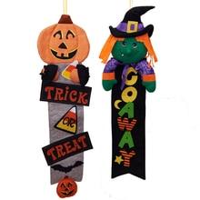 Halloween Smiley pumpkin Hanging Door Pendant Garden Living Room Ornament Party & Festival DIY Decoration