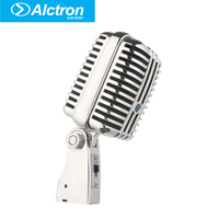 Alctron DK1000 Wired Vintage Classic Microphone High Quality Dynamic Moving Coil Mike Deluxe Metal Vocal Old Style Ktv Mic