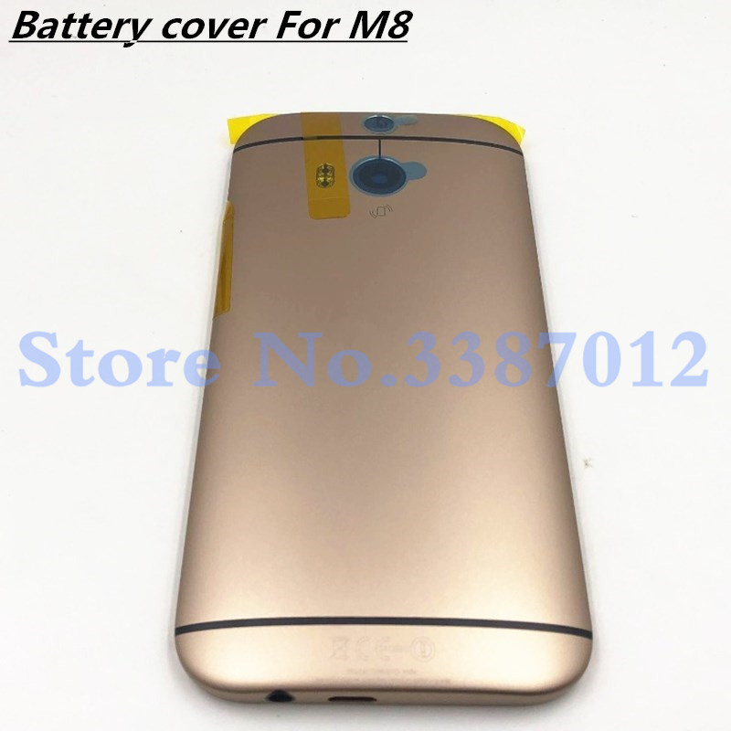 Metal Back Cover For <font><b>HTC</b></font> ONE <font><b>M8</b></font> 831C Rear Housing Back <font><b>Battery</b></font> Cover Door <font><b>Case</b></font> With Power Volume Button+Camera Lens image