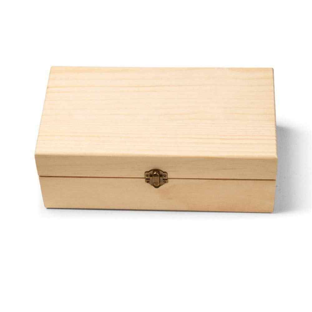 25 slots Detachable Grid Wooden Essential Oil Home Storage Box Storage Case Holder Container Organizer
