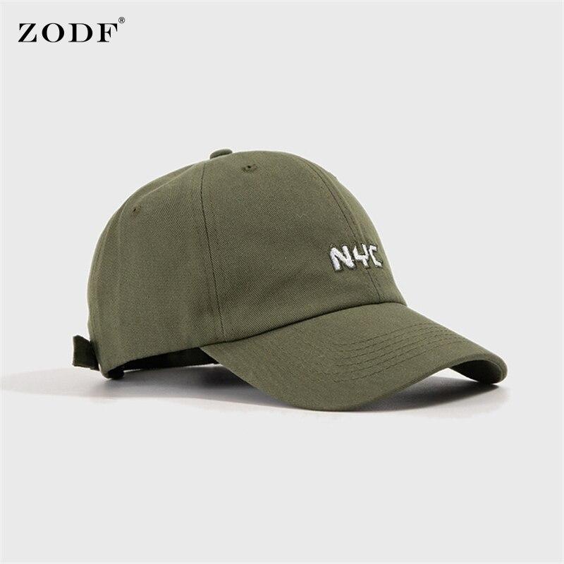 ZODF Brand New Women Harajuku Hats Casual Embroidery Baseball Caps Adjustable Cotton Visor Snapback Dad Cap For Men HY0132