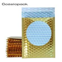 10PCS Glossy Metallic Bubble Mailers Gold Foil Bubble Bags Aluminized Postal Bags Padded Shipping Envelopes