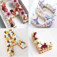 ПЭТ алфавит для торта, формы для торта, печенья, шоколада, пластиковые формы для украшения торта на день рождения, Аксессуары для выпечки, Кондитерские инструменты