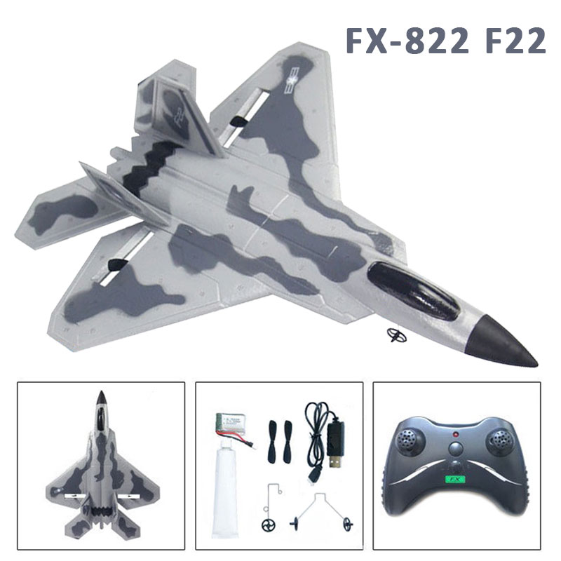 FX-822 F22 RC Plane 2.4GHz RC Airplane EPP RTF with Battery Remote Controller RC Quadcopter Aircraft Model Camouflage Avion RC image