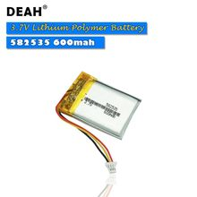 3.7v lipo células 582535 600mah bateria recarregável do polímero de lítio para mp3 mp4 mp5 gps pda portátil fone de ouvido bluetooth lâmpadas led
