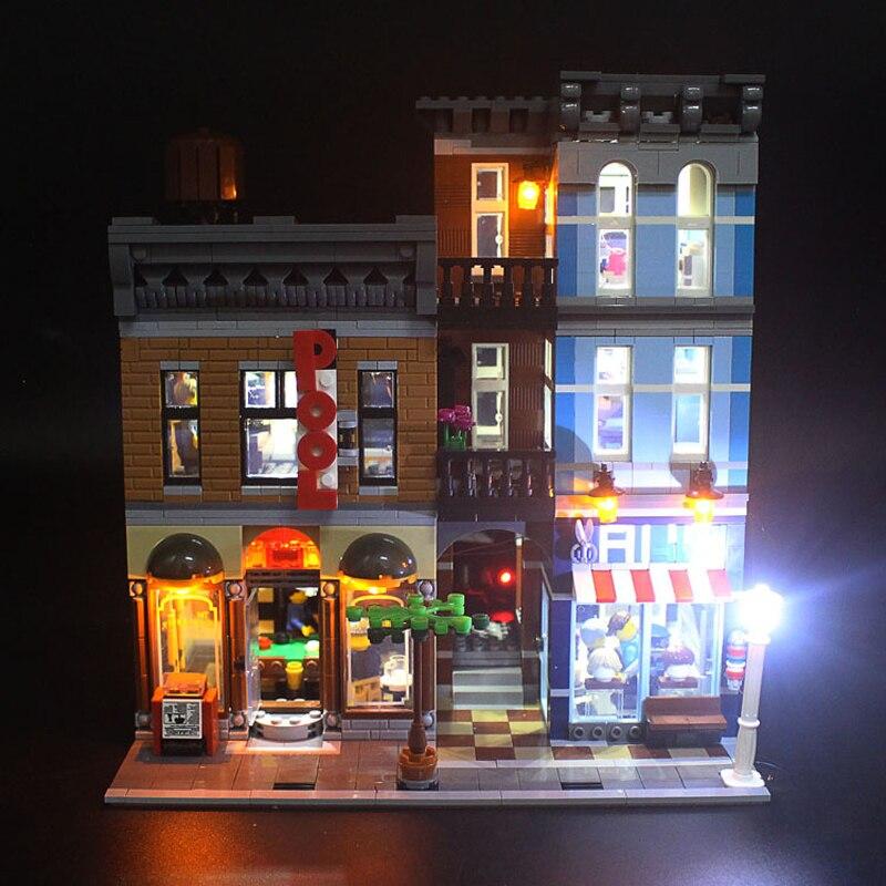 Комплект светодиодных ламп для 15011 LegoSet City Streetview 10246 Detective's офисные строительные блоки модель кирпича (не включает комплект блоков)