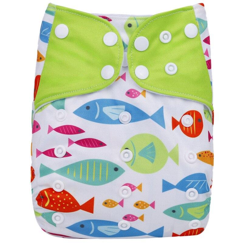 [Simfamily] 1 шт. многоразовые тканевые подгузники, регулируемые детские подгузники, моющиеся подгузники, подходят для 3-15 кг детские подгузники - Цвет: NO24