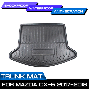 Car Rear Trunk Boot Mat Waterproof Floor Mats Carpet Anti Mud Tray Cargo Liner For Mazda CX-5 2017 2018 image