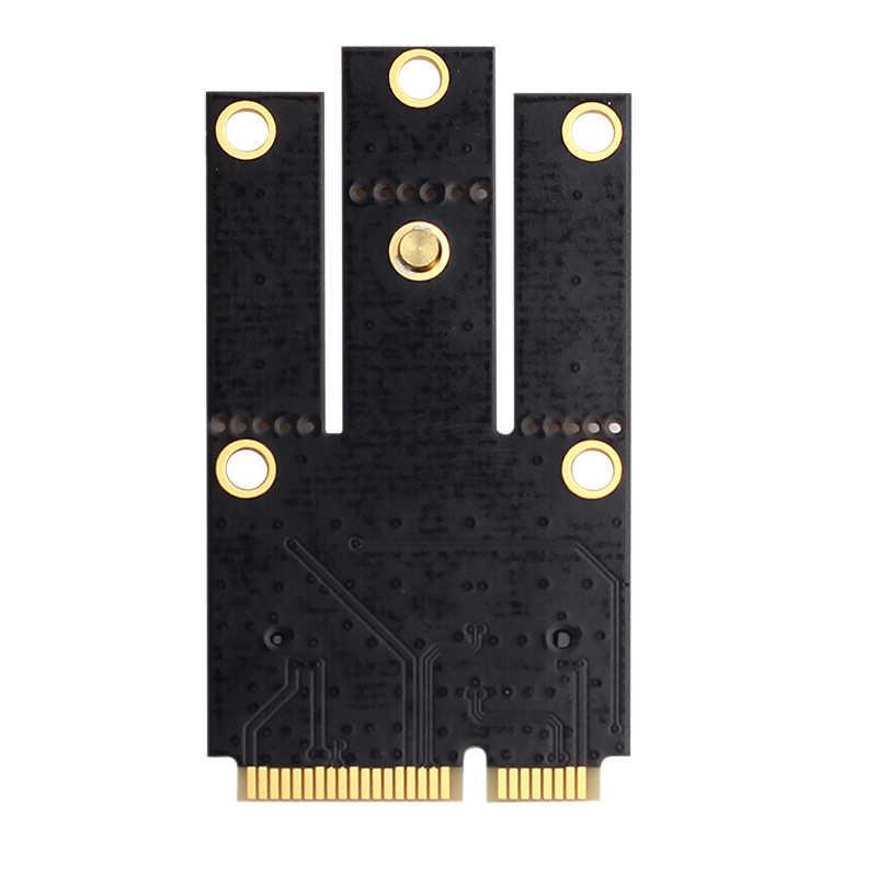 Nova M.2 NGFF Para Mini PCI-E (PCIe + USB) cartão adaptador para M.2 Bluetooth Wi-fi Sem Fio Wlan Intel AX200 9260 8265 8260 para Laptop