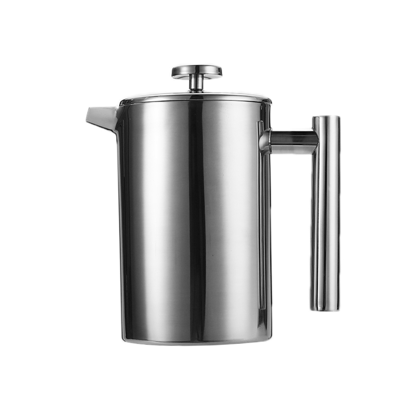 French Presses Coffee Tea Maker Pot Kettle Brewer Container Double Layer Filter rod Plunger Design Durable U Shaped Mouth Coffee Pots     - title=