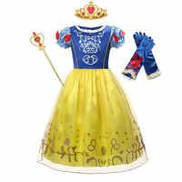Vestido de Blancanieves de la película Disney para niñas, vestidos de fiesta de Halloween, disfraces, Cosplay para niños, ropa de juego de rol
