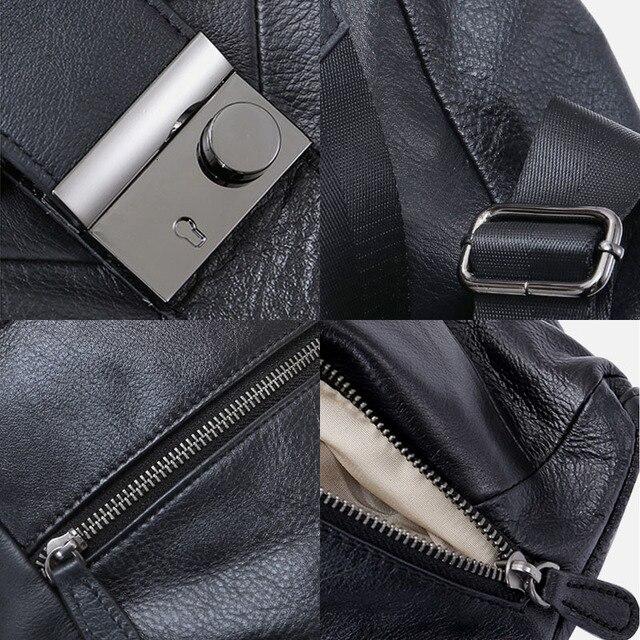 Leather Anti Theft Women Backpack Outdoor Travel Bag Large Capactiy Girl's Schoolbag Daily Knapsack Mochila Feminina Sac A Dos 5
