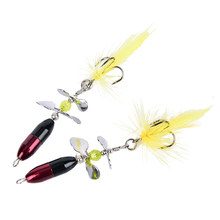 Long Casting Spinner Bait Metal Fishing Lure Double Tail Propeller Trout Carp Catfish Artificial Ice Fishing Lures(China)