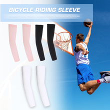 2x Elastic Outdoor Sports Arm Sleeves Breathable UV Protection Cycling Elbow Pad Fishing Climbing Driving Arm Cover