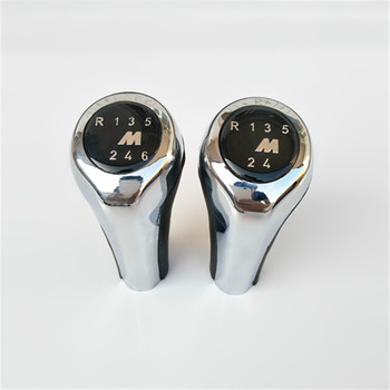Car Styling 5 6 Speed Gear Shift Knob With M Logo For BMW E60 E90 E30 E46 E34 E36 E38 E39 E53 E32 E63 E83 E84 E91 1 3 5 6 Series image
