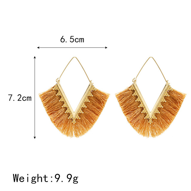 2020 New Tassel Earrings for Women Boheimian Retro V Shape Rope Fringes Drop Earrings Wedding Party.jpg 640x640 - 2020 New Tassel Earrings for Women Boheimian Retro V Shape Rope Fringes Drop Earrings Wedding Party Ethnic Dangle Earrings