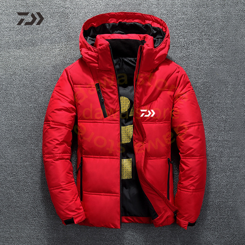 Fishing Clothing Daiwa Jacket Winter Fishing Suits Daiwa Clothing Thicken Warm Zipper Pocket Fishing Shirts Men Fishing Clothes