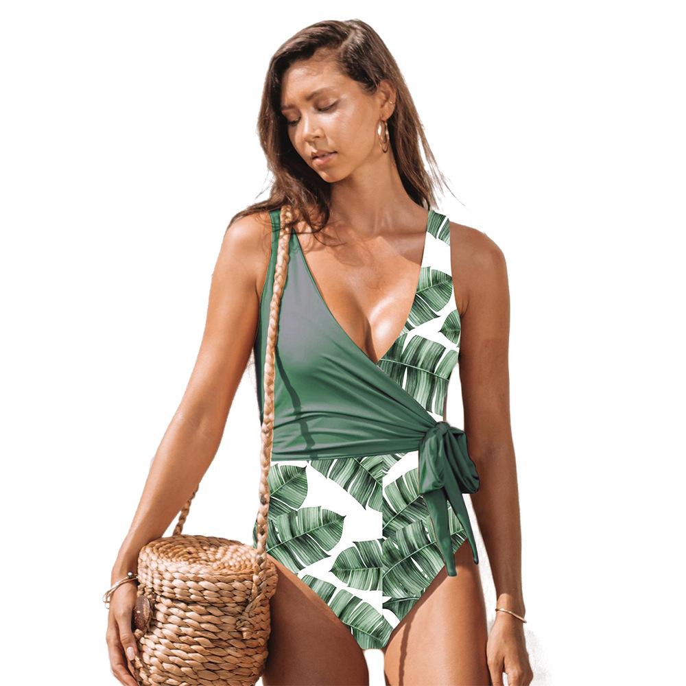 Леопардовая расцветка размера плюс, сдельный купальник, женский купальник, сексуальный, 2019, пуш-ап, купальник, из кусков, пляжная одежда, Femme ... 27