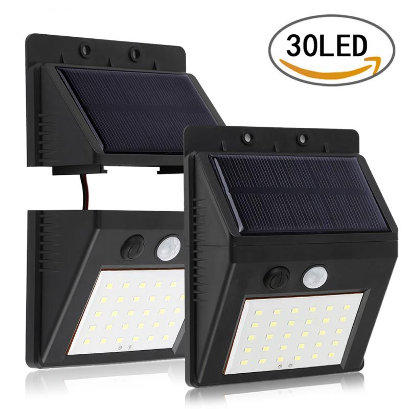 30LED Outdoor Solar Light Detachable Human Body Infrared Induction Wall Lamp Garden Light Waterproof Wall Lamp