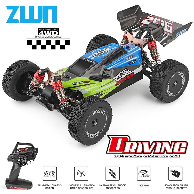 WLtoys 144001 A959 959B 2.4G Racing RC Car 70 KM/H 4WD auto elettrica ad alta velocità fuoristrada Drift telecomando giocattoli per bambini