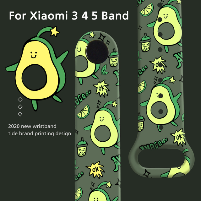Cartoon Strap For Xiaomi Mi Band 6 5 4 3 Replaceable Bracelet Silicone TPU Soft Wristband For Amazfit Band 5 MiBand 6 5 4 strap 1