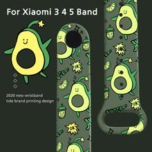 Cartoon Strap For Xiaomi Mi Band 5 4 3 Replaceable Bracelet Silicone Printing soft wristband for Xiaomi mi band 5 band 4 strap cheap ALANGDUO CN(Origin) Wrist Strap english Adult All Compatible Silicone Wrist Strap For xiaomi Mi Band 4 3 Replace Strap for Xiaomi Mi Band 4