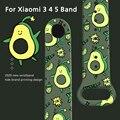 Cartoon Strap Für Xiaomi Mi Band 6 5 4 3 Austauschbare Armband Silikon TPU Weichen Armband Für Xiaomi Band 5 band 6 MiBand 4
