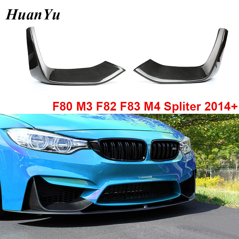 Carbon Fiber F80 Bumper Splitter for BMW F80 (M3) F82 F83 (M4) Flaps Flicks Front Lips 2014 2915 + Car Styling image