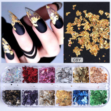 1pcs Aluminum Flakes Sequins Nail Glitter Powder Irregular M