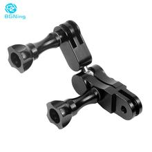 BGNing 360 Degree Magic Arm Ball Head Helmet Adapter Mount Swivel Joint for Gopro 8 7 6 SJCAM for AKASO EK7000 4K Action Camera