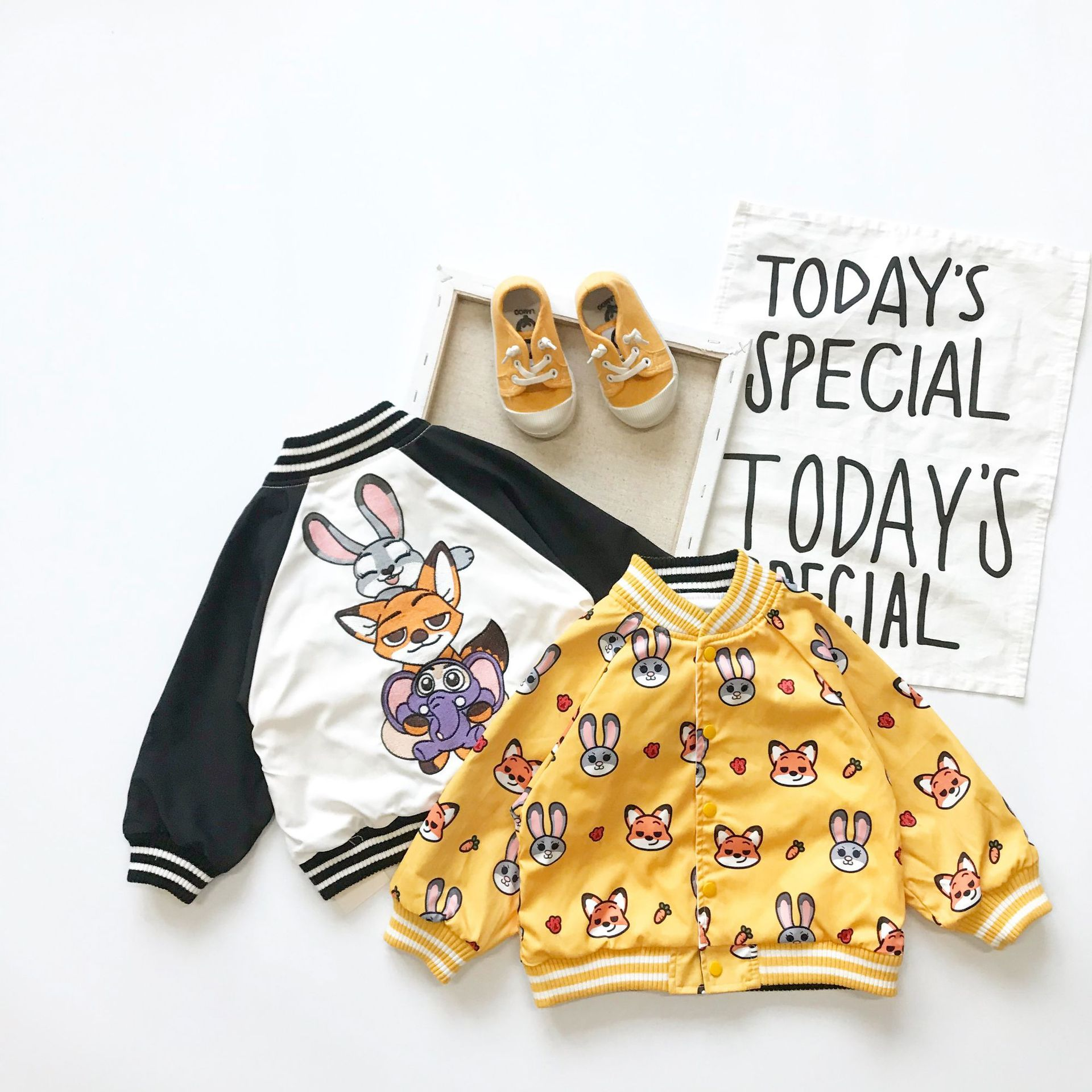 Tonytaobaby Autumn and Winter Clothes New Boys and Girls Cartoon Cute Double-sided Wearing Animal Children's Coat Jacket