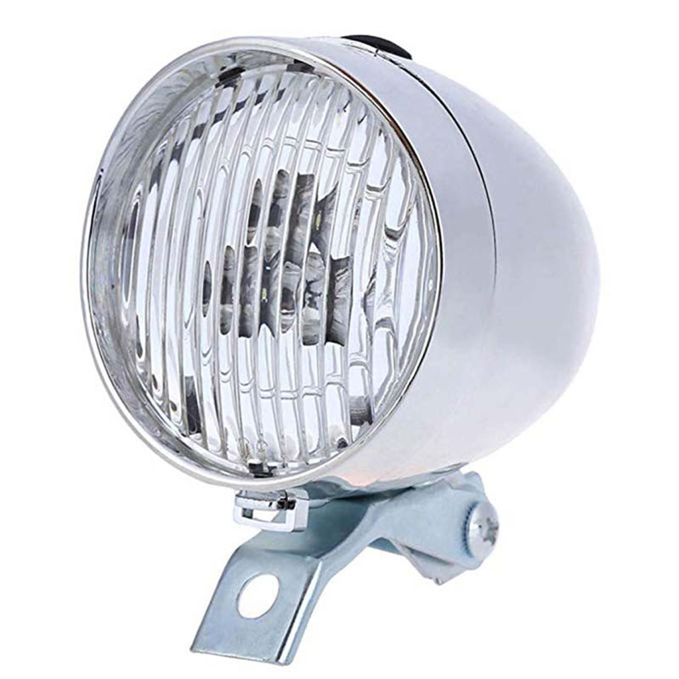3 LED Bicycle Bike Bright Front Light Headlight Vintage Flashlight Lamp HA