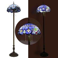 Lámpara LED de pie de vidrio Retro Vintage de 220 V, lámpara de pie decorativa para el hogar, lámpara de pie, lámpara de iluminación para interiores, accesorio E27